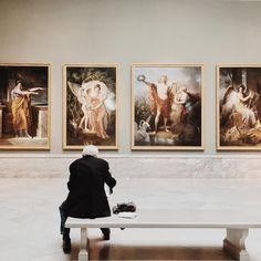 Modern Hepburn — astreals: he was sketching one of the paintings...