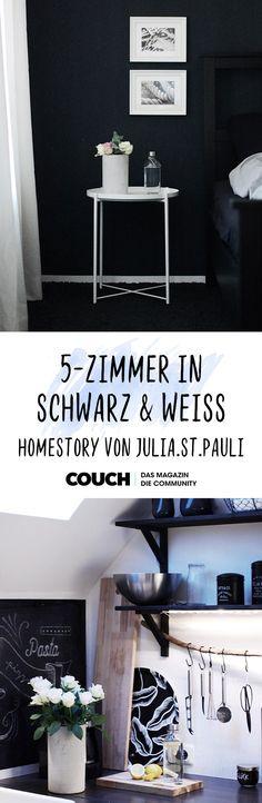 5 Zimmer In Schwarz/weiß