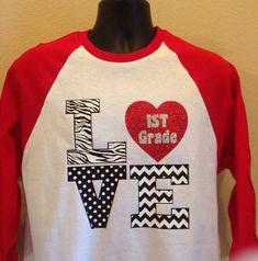 3/4 baseball style Tshirt for Teachers by ScrapCrazyDesigns