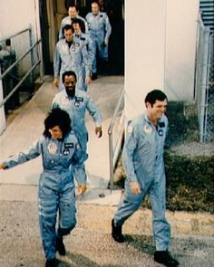 The crew of mission on the way to board the Space Shuttle Challenger on January [[MORE]] Mission type : Satellite deployment Operator : NASA Mission duration: 73 seconds days 34 minutes planned) Distance travelled : 29 kilometres. Christopher Mccandless, Space Shuttle Challenger Crew, Challenger Space, Challenger 1986, Space Shuttle Disasters, Challenger Explosion, Christa Mcauliffe, Rare Historical Photos, Haunting Photos