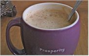 Vegan Hot Chocolate Delight -- sweet-and-healthy way to warm up frigid days. Use almond milk, and sweeten with stevia.