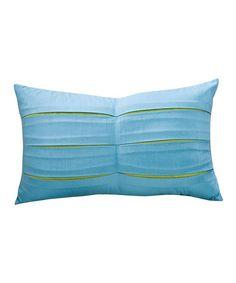 Take a look at this Meduim Blue Fresca Sandy Wilson Linen-Blend Lumbar Pillow by ACG Green Group on #zulily today!