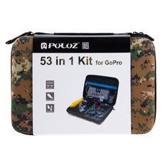 PULUZ 53 in 1 Accessories Total Ultimate Combo Kit with EVA Case  This item supports CPGA01 Code. We'll give you 10% OFF as you input the CPGA01 as Coupon Code in the basket.  Time: 2016.09.01—2016.10.31.