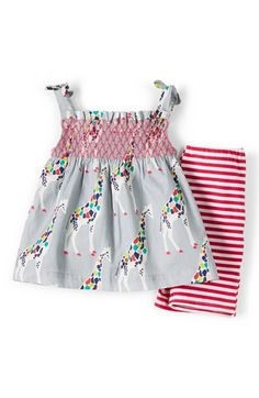 Mini Boden Smocked Tunic & Pants (Baby Girls) available at #Nordstrom