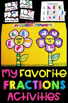 Fractions in First Grade Fraction Activities, Small Group Activities, Math Concepts, Fractions, First Grade, Small Groups, About Me Blog, Parenting, Fun