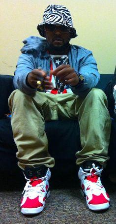 "ScHoolboy Q in the Air Jordan 6 ""Carmine"""