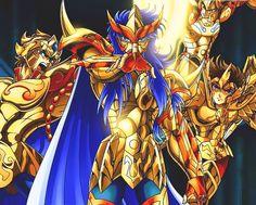 Saints: Aioria, Milo, Shura and Aioros
