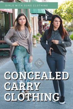 Concealed Casual Collection - Girls With Guns Women Concealed Carry Clothing, Concealed Carry Jacket, Pistol For Women, Handgun For Women, Burgundy Leggings, Everyday Items, Everyday Carry, Tactical Clothing, Carry On