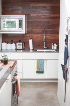 The Wood Plank Backsplash Is the Star of This Austin Kitchen — Kitchen Spotlight