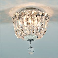 Crystal Clear Ceiling Light