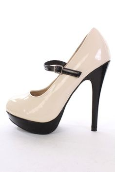 This beige, two-toned heel is adorable. Simple, professional, but still very cute and unique. ($16.99)