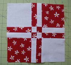 Disappearing Four Patch Quilt Block | And then sew the 3 columns together: