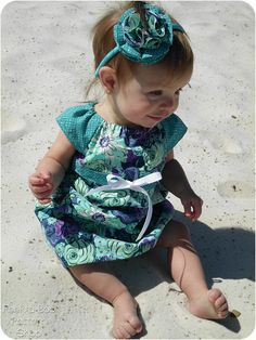 Lucy Dress Girls Peasant Dress Pattern Baby by PeekabooPatternShop,
