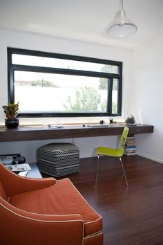 a 'window seat chair' in the Rosemont Residence | Dwell on Design Exclusive House Tour