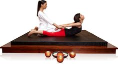Thai massage bed is designed for thai style of massage that involves deep stretching of body muscles. The molded PU mattress supplied are stiff and exactly suited for thai massage.