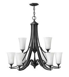 Hinkley Lighting Brantley 9 Light Chandelier in Textured Black 4638TB #hinkley #hinkleylighting #lightingnewyork #outdoorlighting #lighting