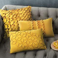 Morden Yellow/blue Cushion Art Decorative pillow creative Geometric Pattern solid Cushions Home Decor Sofa Throw Pillow Yellow Throw Pillows, Yellow Cushions, Sofa Throw Pillows, Diy Pillows, Seat Cushions, Velvet Cushions, Modern Cushions, Decorative Cushions, Decorative Items