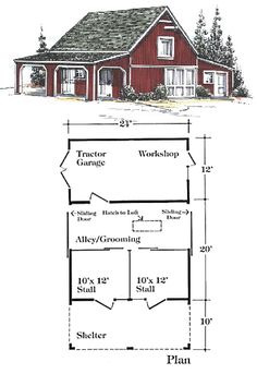 Horse Barn blueprint perfect just bigger and is missing the indoor riding arena :)