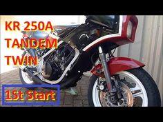 Kawasaki KR 250A Tandem Twin. First Start. Barn Find. 2 Stroke Startup. ...