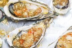 Huîtres gratinées au champagne Valeur Nutritive, Calories, Fresh Rolls, Champagne, Nouvel An, Ethnic Recipes, Recipes, Kitchens, Pisces