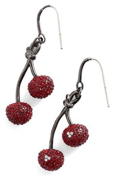 MARC BY MARC JACOBS Pavé Cherry Earrings available at #Nordstrom