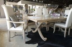 Perth Luxury Furniture and Homeware Products - Roman Dining Table with Marble Inlay, exclusive to Trilogy Concept Stores