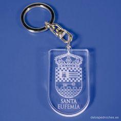 Llavero de metacrilato del escudo de Santa Eufemia #ValleDeLosPedroches   http://delospedroches.es/es/metacrilato/176-llavero-metacrilato-santa-eufemia-ll102.html