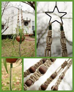 Starchaser - Handmade Natural Hemp Macrame Hanging Basket - Plant Hanger by Macramaking- Natural Macrame Plant Hangers, via Flickr