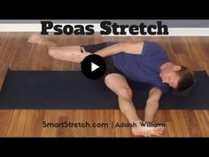 Psoas Stretch - No Painful Lunge Required! Psoas Muscle, Muscle Pain, Abc Yoga, Psoas Stretch, Psoas Release, Tight Hip Flexors, Tight Hips, Muscle Groups, Physical Activities
