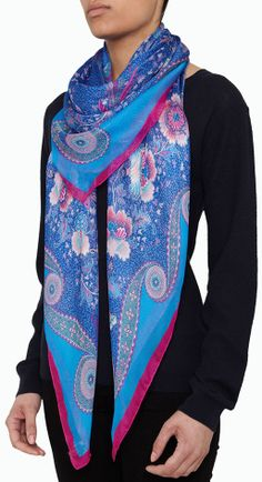 Invest in a classic piece in beautiful cornflower blue, ideal for brightening up any outfit. Shop now http://www.liberty.co.uk/fcp/categorylist/dept/accessories_scarves_liberty #LibertyScarves