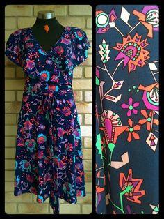 85535d8112f1 Leona Edmiston   LxLE   10   peruvian floral   mock wrap dress   2015