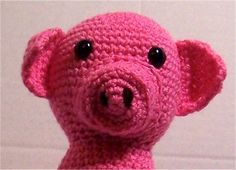Bacon is my name and fun is my game. I am the cutest pig on the block. I am an indoor pig and promise not to leave a muddy mess.  Crochet with red heart yarn by me. It has sand in the base which makes it heavy enough to hold open the door, and the rest of the body is filled with fiber fill. Alt...