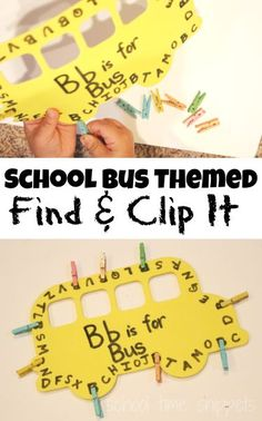 School Time Snippets: Back to School Themed Find and Clip the Letter Fine Motor Activity! Fun and simple activity for little hands! Pinned by SOS Inc. Resources. Follow all our boards at pinterest.com/sostherapy/ for therapy resources.