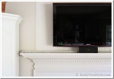 How to Hide Cords and Wires on a Wall Mounted Flat Screen TV | In My Own Style