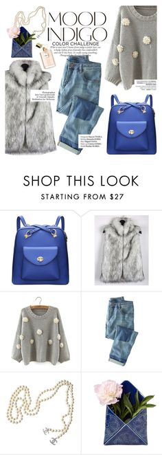 """""""mood indigo"""" by punnky ❤ liked on Polyvore featuring ANNA, Wrap, Chanel, Haute Hippie and Vagabond"""