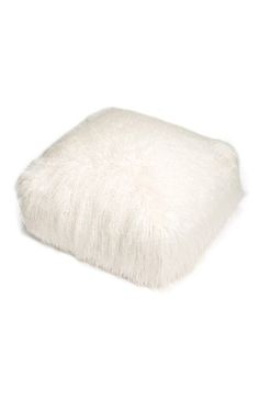 Nordstrom at Home 'Mongolian' Faux Fur Pouf available at #Nordstrom