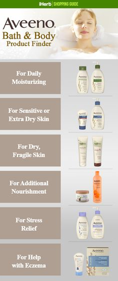 Aveeno has the perfect lotions and potions for your skin's needs! Follow the link in the graphic to see what they offer.