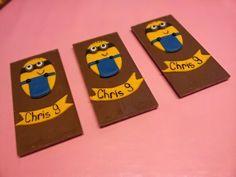 Minion chocolade. www.dezoetetaart.com