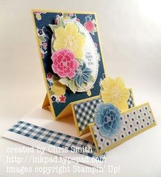 Accordion Fun Fold -  Secret Gingham Garden  - Chris Smith - from my ink pad to yours blog