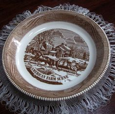 Vintage Pie Plate Currier and Ives