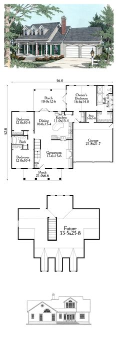 Cape Cod Country House Plan 40029