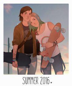 Max & Chloe Fanart - - Skateboard iDeas Skateboarding, the coastal citie. Life Is Strange Fanart, Life Is Strange 3, Reference Manga, Character Art, Character Design, Lesbian Art, Weird Art, Art Inspo, Cool Art