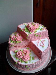 Photo - Schoki and other recipes - - Torten - Cake Cake Decorating Techniques, Cake Decorating Tips, Cookie Decorating, Food Cakes, Cupcake Cakes, Mini Cakes, Amazing Cakes, Beautiful Cakes, Cake Shapes
