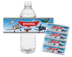 Disney Planes Dusty Crophopper - Printable Water Bottle Wraps | designdream - Art on ArtFire
