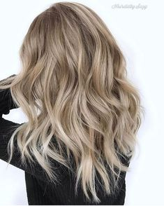 Golden Blonde Balayage for Straight Hair - Honey Blonde Hair Inspiration - The Trending Hairstyle Ombre Hair Color, Blonde Color, Cool Hair Color, Beige Hair Color, Sandy Hair Color, Blond Beige, Neutral Blonde Hair, Hair Goals Color, Balayage Hair Blonde