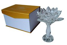 Tealight Candle Holder Crystal Lotus Flower with 3Tiered Petals with Gift Box ** Continue to the product at the image link.Note:It is affiliate link to Amazon.