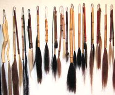 Handmade brushes from Mooresville, Indiana