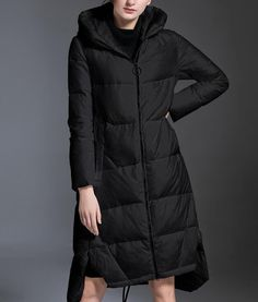 Women Down Coat Winter Loose Hooded Duck Down Jackets Long Warm Down Coat Any Size Winter Coats Women, Winter Jackets, Long Parka Coats, Faux Fur Hooded Coat, Duck Down Jacket, Warm Down, Warm In The Winter, Cold Weather Fashion, Down Coat
