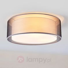 Grey Nica ceiling light with double fabric shade Lighting Online, Design Moderne, Fabric Shades, Textiles, Living Room Modern, Lampshades, Ceiling Lights, Applique, Mirror