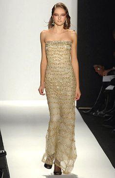 Badgley Mischka Fall 2008 RTW.  Gotta love a gold gown.
